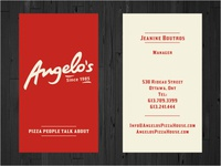 Angelo's Business Cards