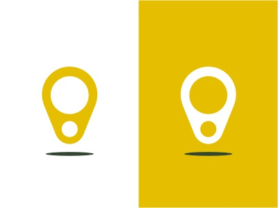 Beerfind logo location pointer can yellow beer drink navigation direction pin map shadow