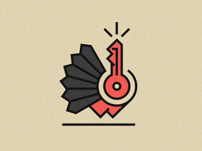 Gobbble? logo illustration animal bird turkey thanksgiving key line red black turn