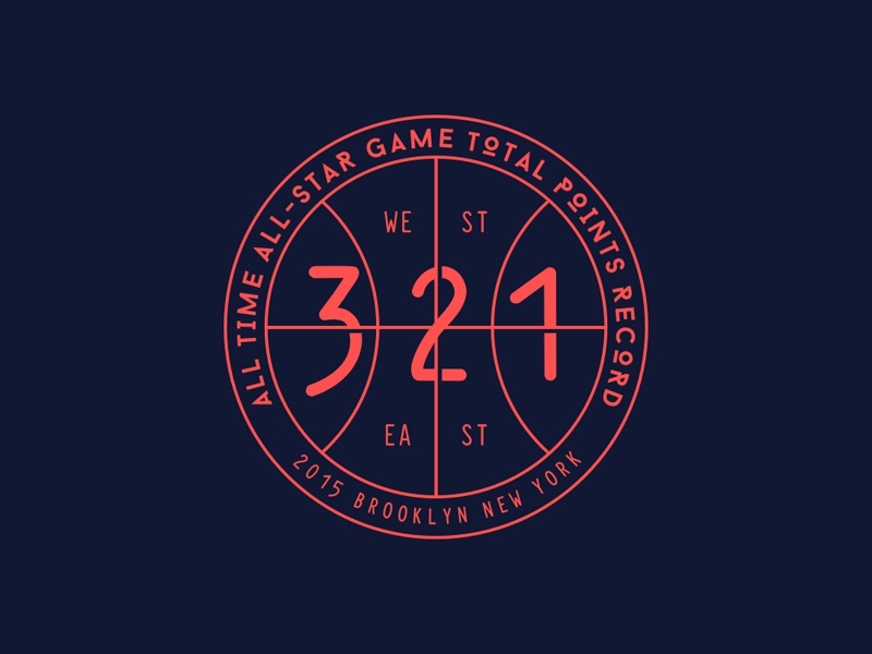 NBA All-Star 2015 Record logo seal circular sports basketball nba ball emblem round game blue number