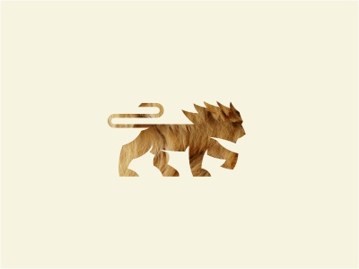 Lion Mark logo animal lion texture power brown beige cat wild mane