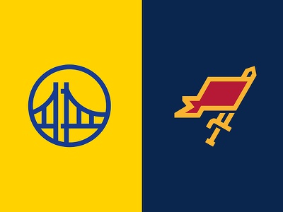 Let the games begin... basketball championship sports flag nba cavaliers warriors sword gate bridge icon logo