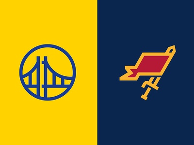 Let the games begin... basketball championship sports flag nba cavaliers warriors sword gate bridge icon logo
