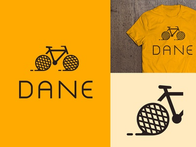 Dane sports wheel brown yellow caramel trail waffle nutrition food health bicycle logo
