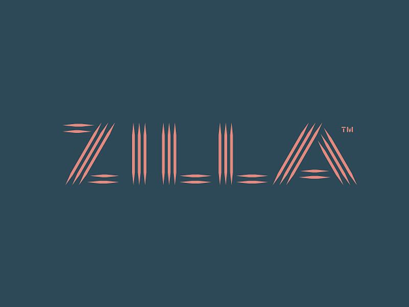 Zilla sports art music scratch shadow toothpick typography custom lettering logo logotype