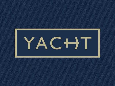 Yacht sailing captain gold blue anchor sea yacht typography lettering custom logotype logo