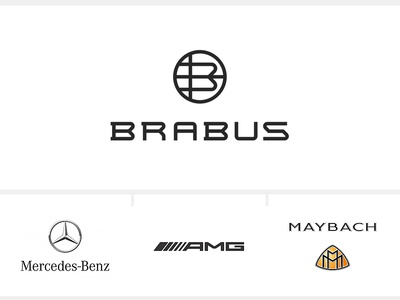 Brabus Re-Brand Concept  circular round initials shield brabus mercedes ride car custom logotype logo