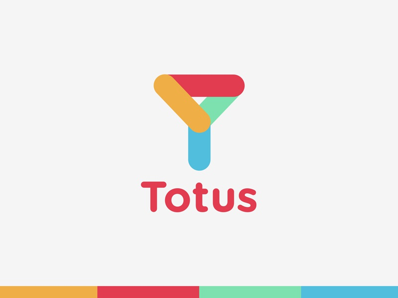 Totus fold initials colorful icon app laundry funnel logo