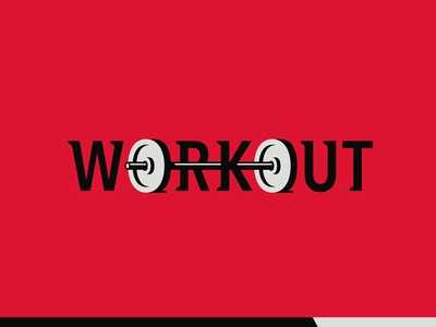 Workout gym building body health fitness crossfit workout sports lettering custom logotype logo