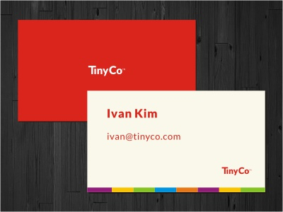 Tinyco Card logo logotype business card minimal red multicolor print stationery typography card colorful