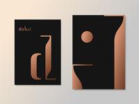 Dubai Branding copper fashion luxury logo logotype lettering typography arabic city east west dubai