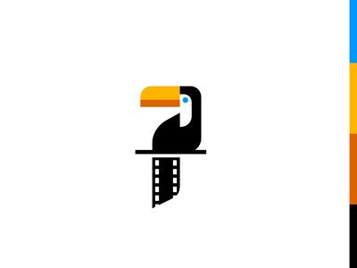 Toucan Films colorful toucan bird animal role strip production film movie logo