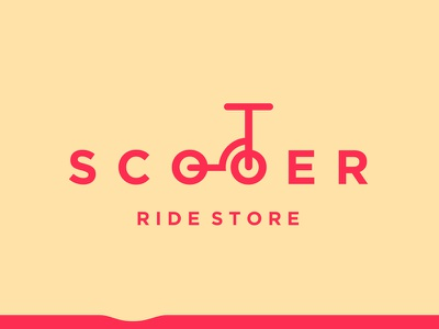 Scooter fusion outdoor sports wheels bump yellow red shop store ride scooter logo