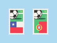 Football Cup Stamps