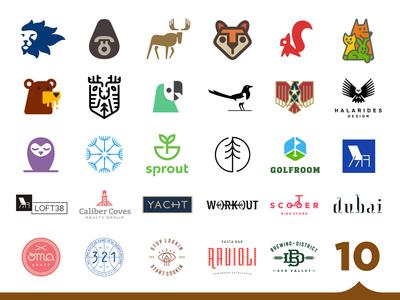 30 Logos in Logo Lounge 10! roundup collection logolounge lounge book logo