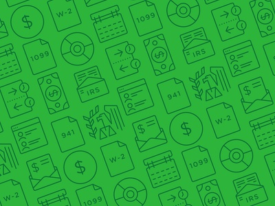 Square Pattern tax document payment monoline eagle financial green square set icons pattern icon