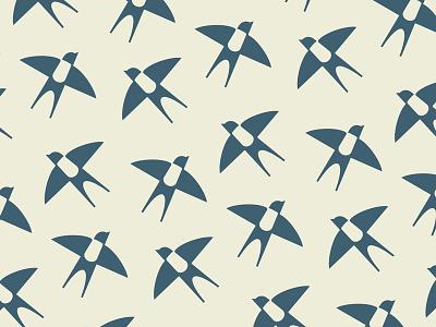 Swallow Pattern logo pillow bedding linen negative green fly nature pattern fashion swallow bird