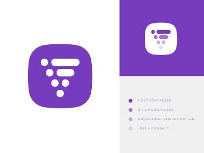 Viber Icon Redesign Concept redesign funnel line dot brand purple symbol chat communication viber icon logo