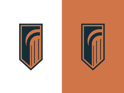 CC Rebrand structure trust strong column pillar flag shield tradition education learning college logo