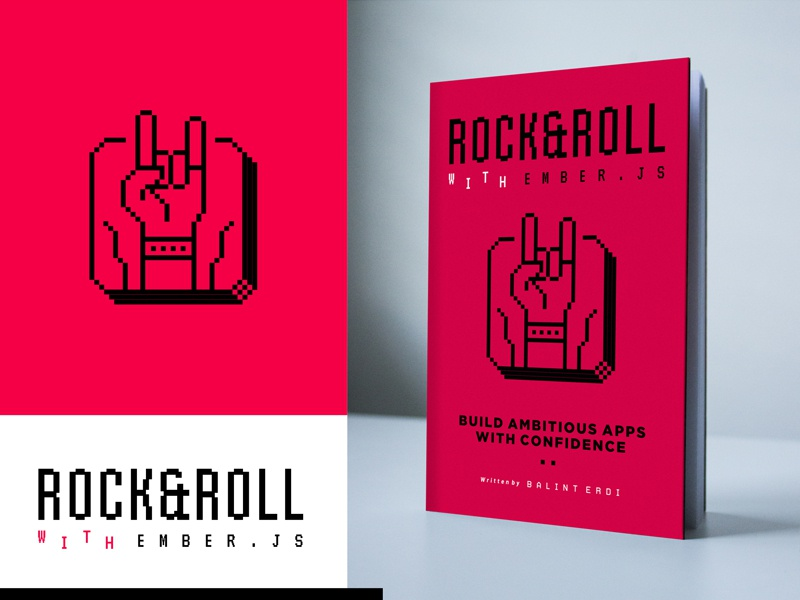 RNRWE app pixel ember icon music party hand roll rock cover book logo