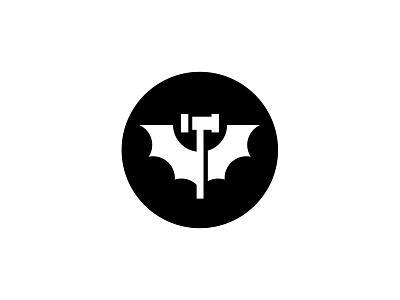 You Tube Comics channel shadow comics tube round circular wings animal bat gavel logo