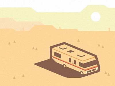 Breaking Bad Crystal Ship sand sun desert fanart heisenberg bad breaking show tv van vehicle illustration