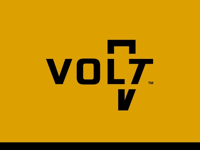 Volt Concept 4 device line black yellow thunderbolt thunder photography battery volt negative logo