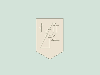 Bird Clan clan family branch season fall cosmetics jewelry fashion elegant delicate thin monoline emblem shield bird animal logo