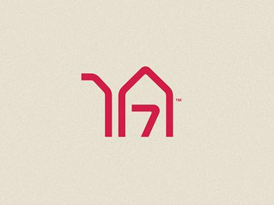 Desert Constructions red sand monoline line fusion home house structure construction building uae dubai desert camel animal logo