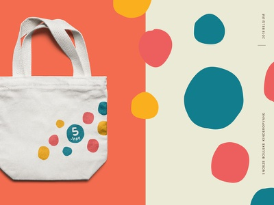 SB Daycare Promo Bag nursery kindergarden kids happy dots fun daycare promo packaging tote bag colorful child care
