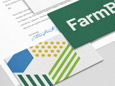 FBX business card nature elements stripes lines dots multicolor print stationery pattern agriculture farm logo
