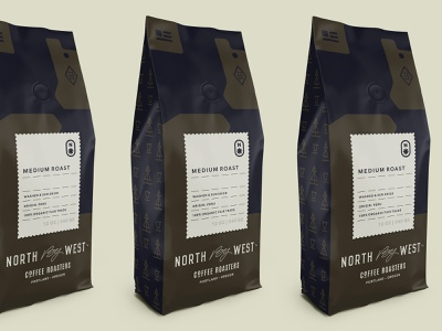 NBW Packaging drink label camo usa portland oregon symbol topography bag pouch coffee bag packaging coffee