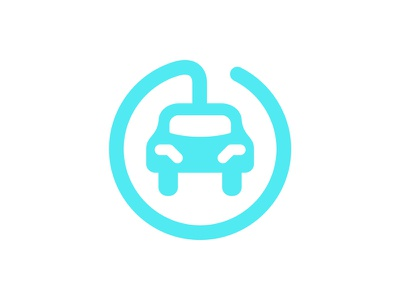 EV Charging Station Icon logo ev cable station car round icon auto charge energy power electric