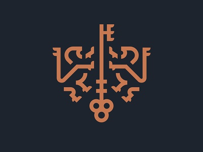 Leeuwen coat of arms safe secret strong monoline thick line heraldry key lions cat animal lion emblem shield crest logo
