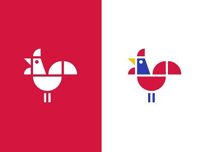 Roostahfari game puzzle colorful geometry cock rooster bird animal logo