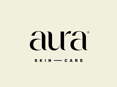 Aura aura moon fusion fashion health skincare cosmetics elegant lettering typography logotype logo