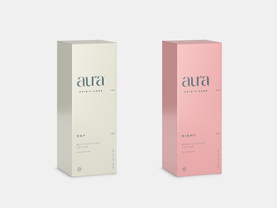 Aura Day and Night luxury sophisticated lotion creme night day packaging box aura skincare health beauty cosmetics