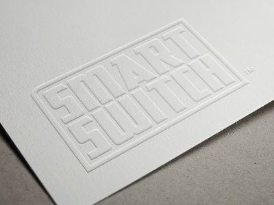 SS - - SF retro white emboss press innovation tech scifi wifi plug product switch smart frame logotype logo