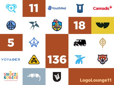 18 Logos in Logo Lounge 11! numbers feature selected 11 lounge volume book collection roundup logo