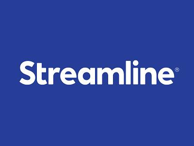 STLN business logistics blue distribution incentive streamline lettering typography logotype logo
