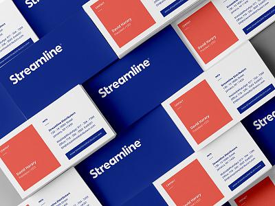 STLN Business Cards business card streamline logistics incentive distribution business blue