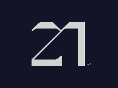 21 lettering logotype typography future anniversary 21 numbers number monogram logo