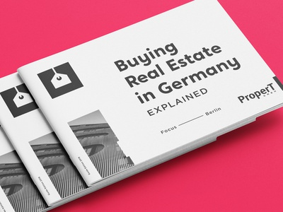 ProperT Brochure print brochure property house tag estate real estate real