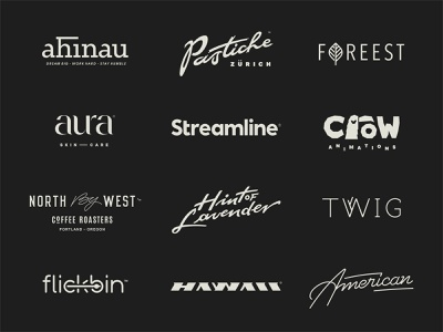 Logotype Collection 2 branding fusion script calligraphy roundup collection typography lettering logotype logo
