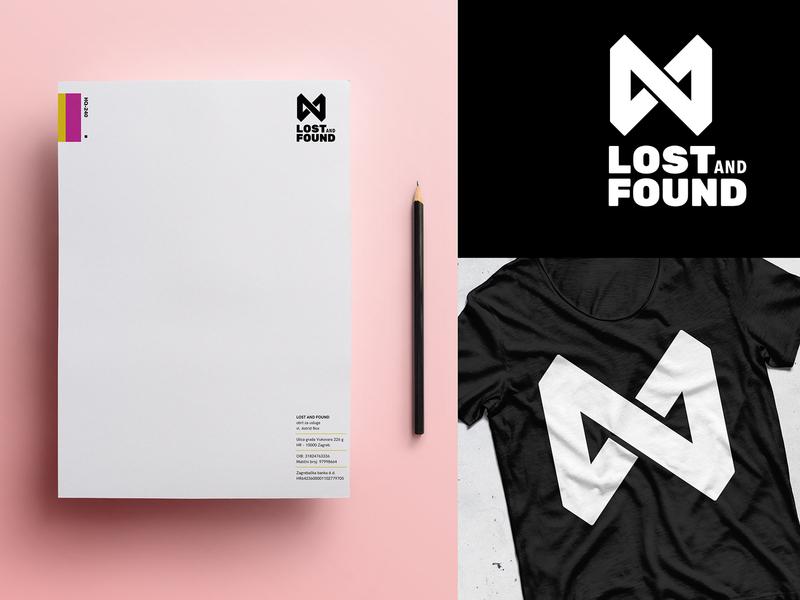 L&F memo vhs x t shirt letterhead photography film media logo loop infinity found lost