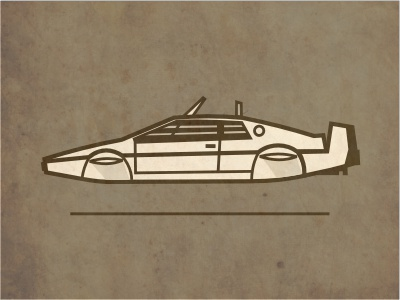 Underwater Bond uk bond james 007 car illustration movie film