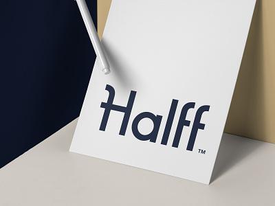 Halff Logotype banking bank app financial finance custom typography logotype logo