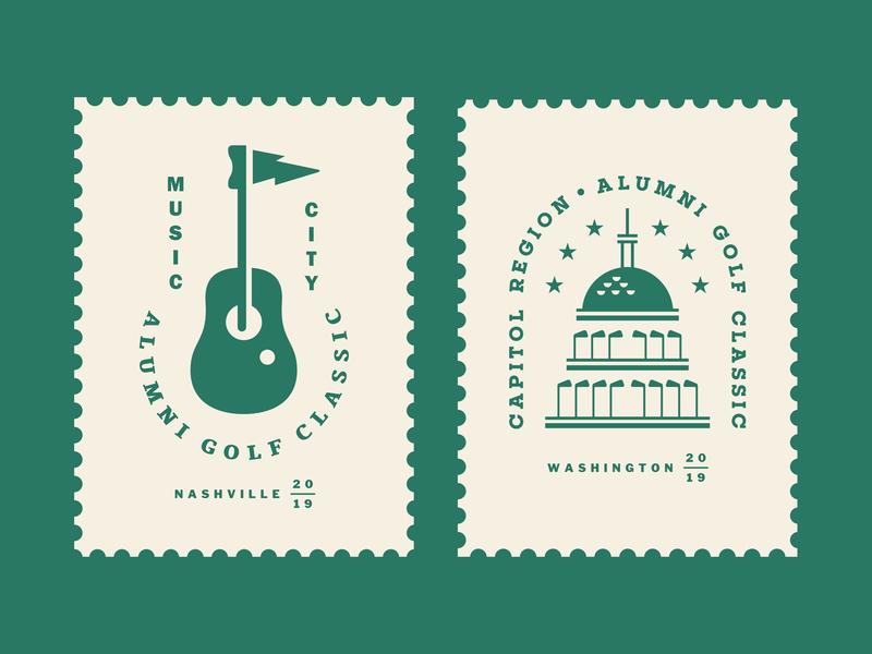 AGC Events 01 tournament emblem crest capitol stamp green star ball construction building dc equipment guitar music event outdoor sports golf logo
