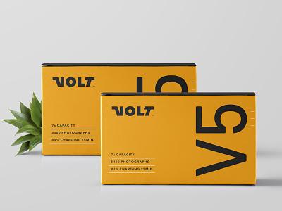Volt Final innovation box packaging t-shirt photography charge battery retro black yellow symmetry negative thunderbolt thunder lettering typography custom logotype logo