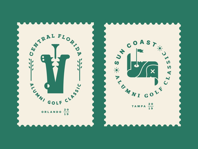 AGC Events 02 stamp flag map crocodile pirate animal nature tournament outdoor logo green event equipment sports emblem crest golf ball